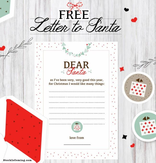 Free Printable Letter To Santa Template  Printables  Freebies