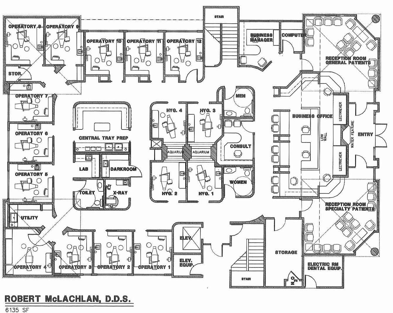 Medical office floor plans 1341 1069 park vista for Office interior plan