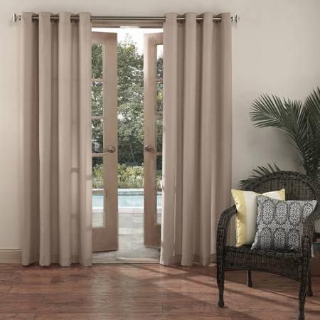 Sun Zero Indoor/Outdoor Woven Solid Window Curtain - Walmart.com