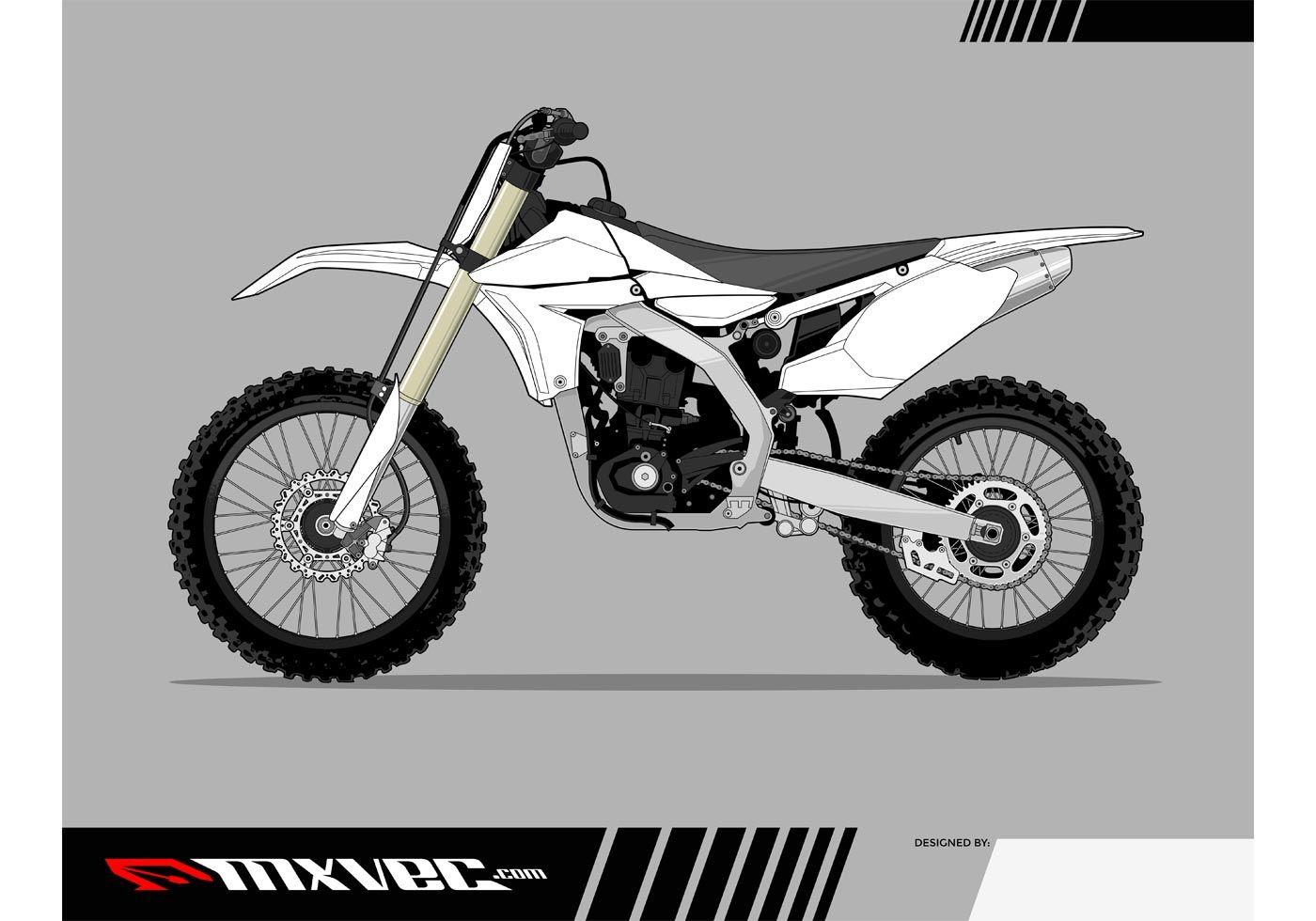 Motocross Bike Vector Template Autos Motos
