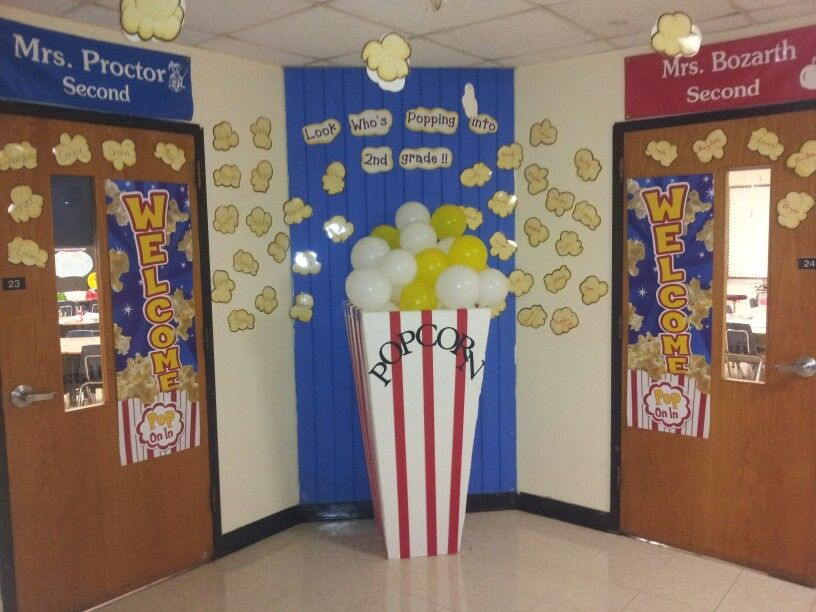 2nd grade hallway decorated for the 1st day of school