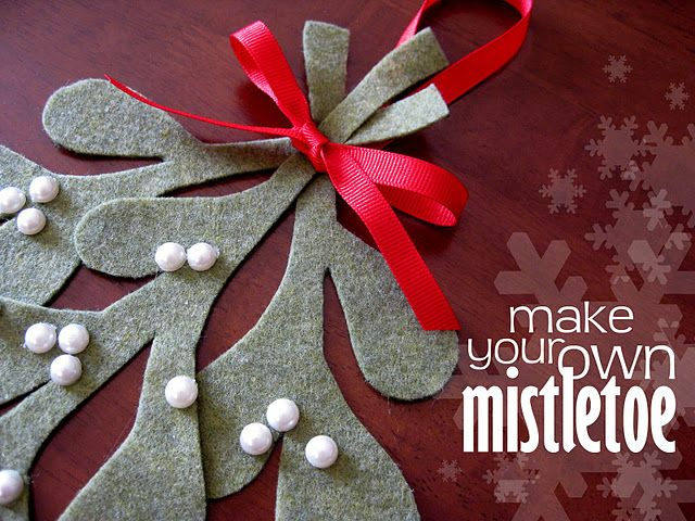 make your own mistletoe ~ tutorial