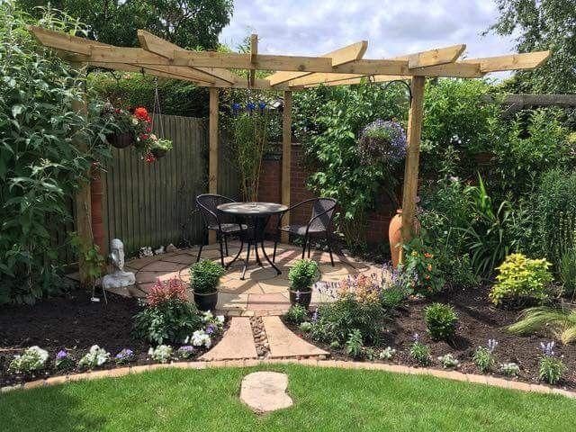 Pin By Emma Deco On Garden Low Maintenance Garden Design Back Garden Design Backyard Landscaping Designs