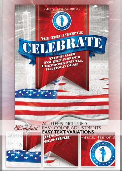 patriotic 4th of july flyer template 4th of july flyers free flyer