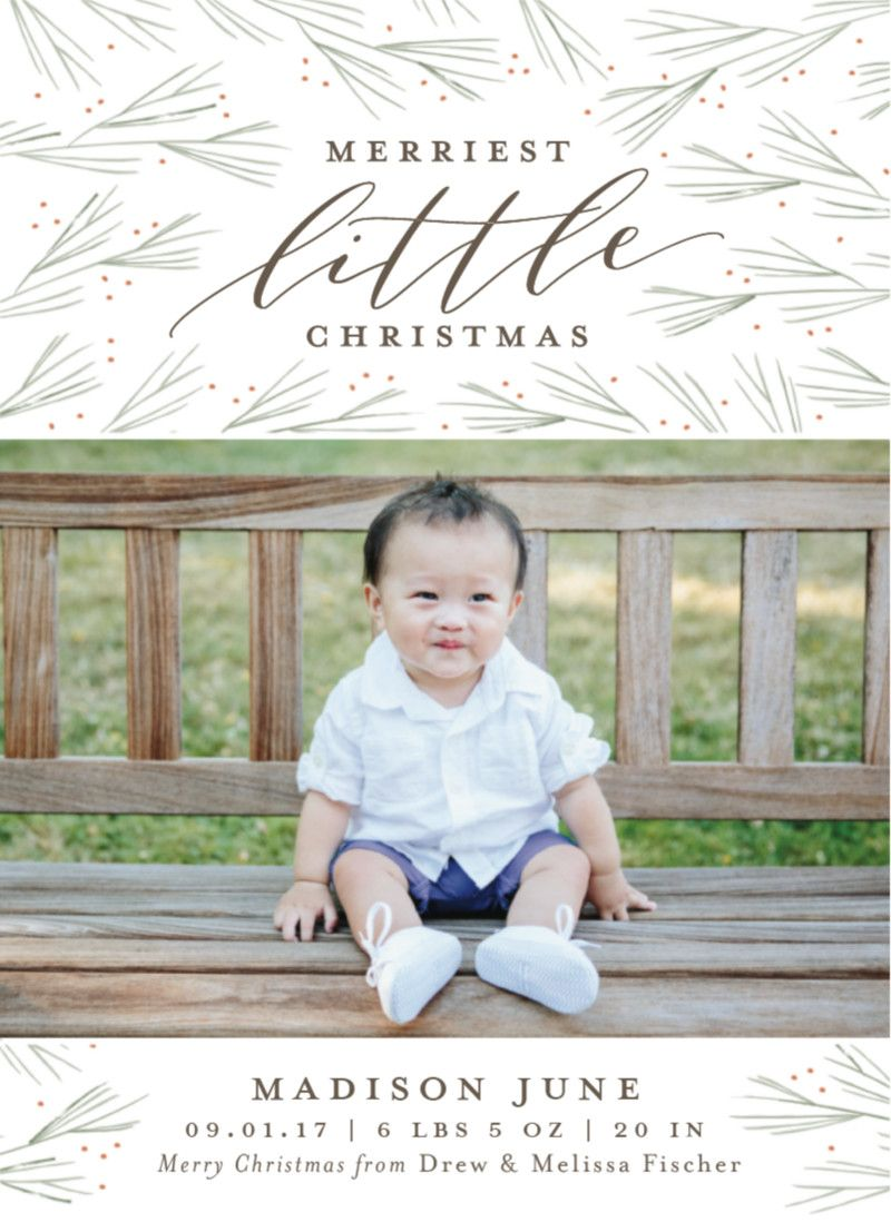 Merriest little christmas by minted artist sarah guse