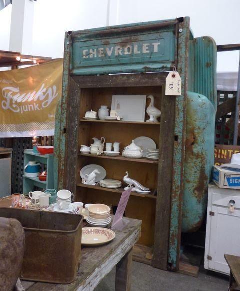 Old Chevy Truck Bed Shelving Unit Estanterias Recicladas