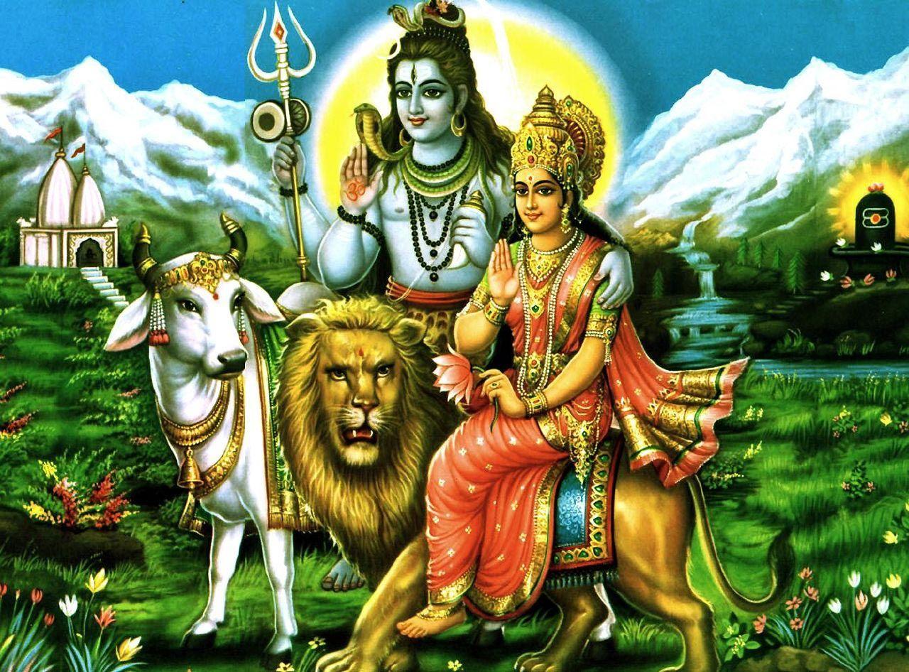Shiva Parvati in 2020 | Lord shiva family, Shiva shankar ... |Shiva Parvati Love Wallpaper