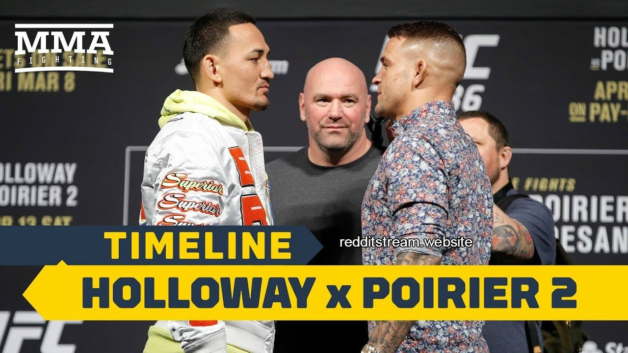 UFC 236 Holloway vs  Poirier 2 This Weekend Only On Our