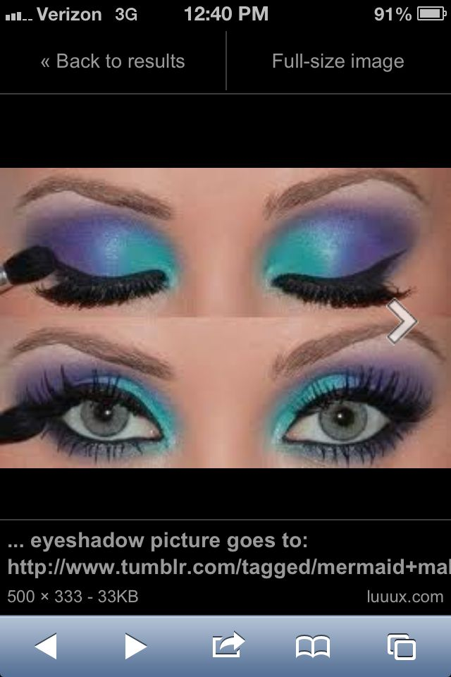 This would work as make-up for a little mermaid costume.