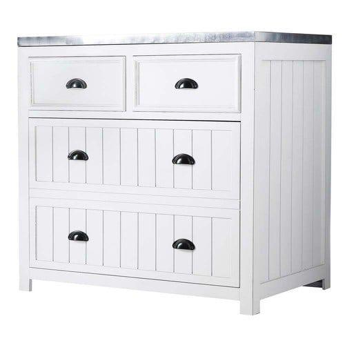 299 NEWPORT Wooden kitchen base unit in white W 90cm fc units