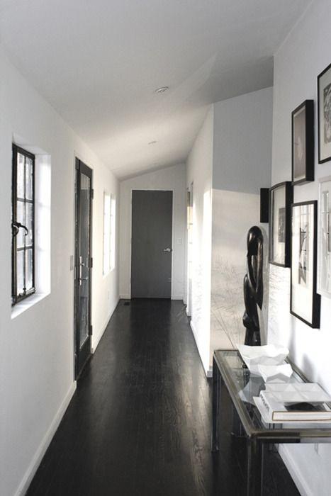 Love Dark Wood White Black And White Hallway Black Wood