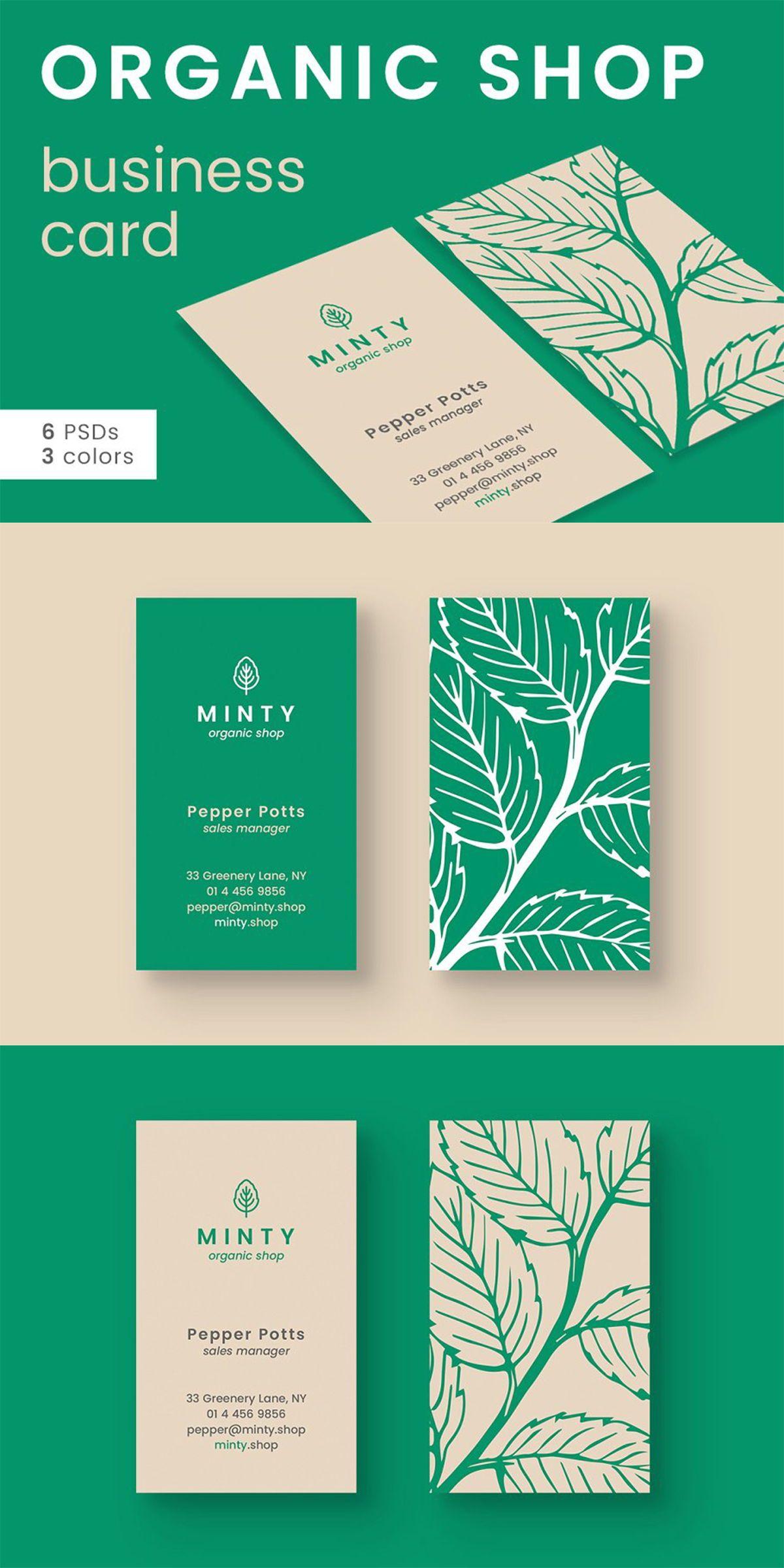 Organic Shop Business Card