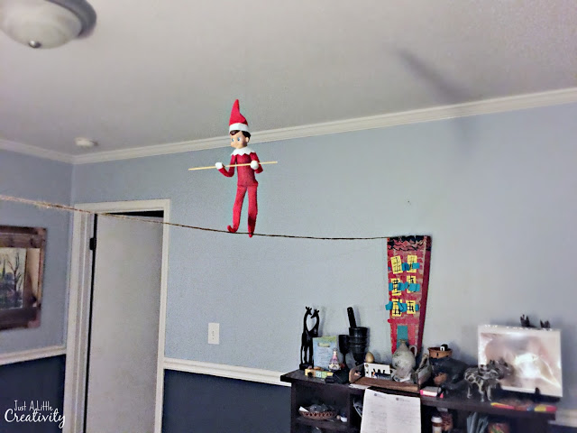 One month of Elf of the Shelf Ideas from Just a Little Creativity