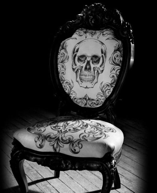 Rococo Inspired Skull Chair ♥