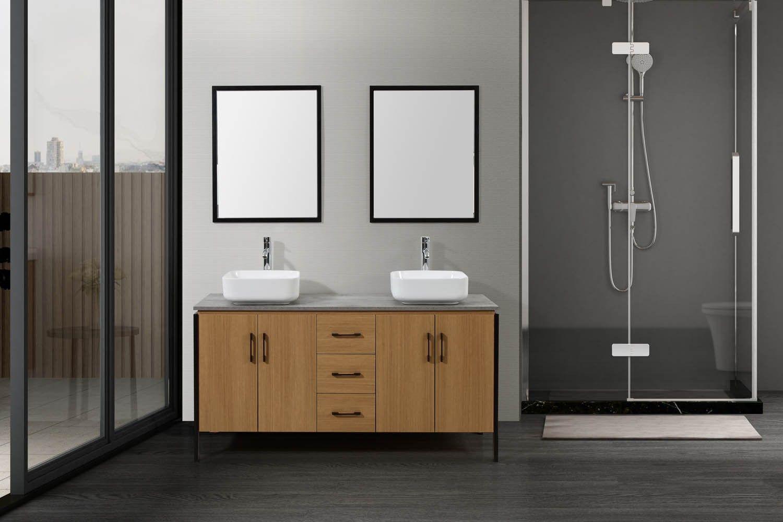 Denver Ensemble de salle de bain industriel pas cher - Meubles de