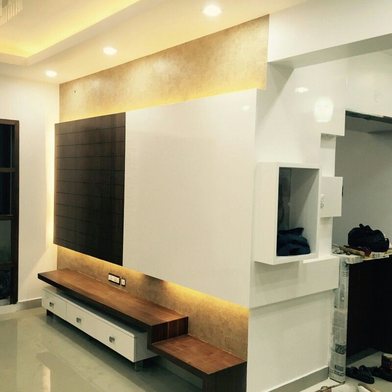Tv units veneer with duco paint my new works pinterest for Lcd wall unit designs for hall