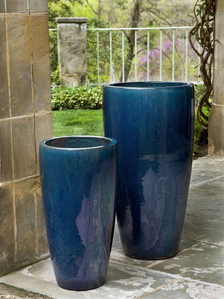 Image Result For Blue Door Blue Planter Site Pinterest Com Large Ceramic Planters Large Outdoor Planters Planter Pots Outdoor