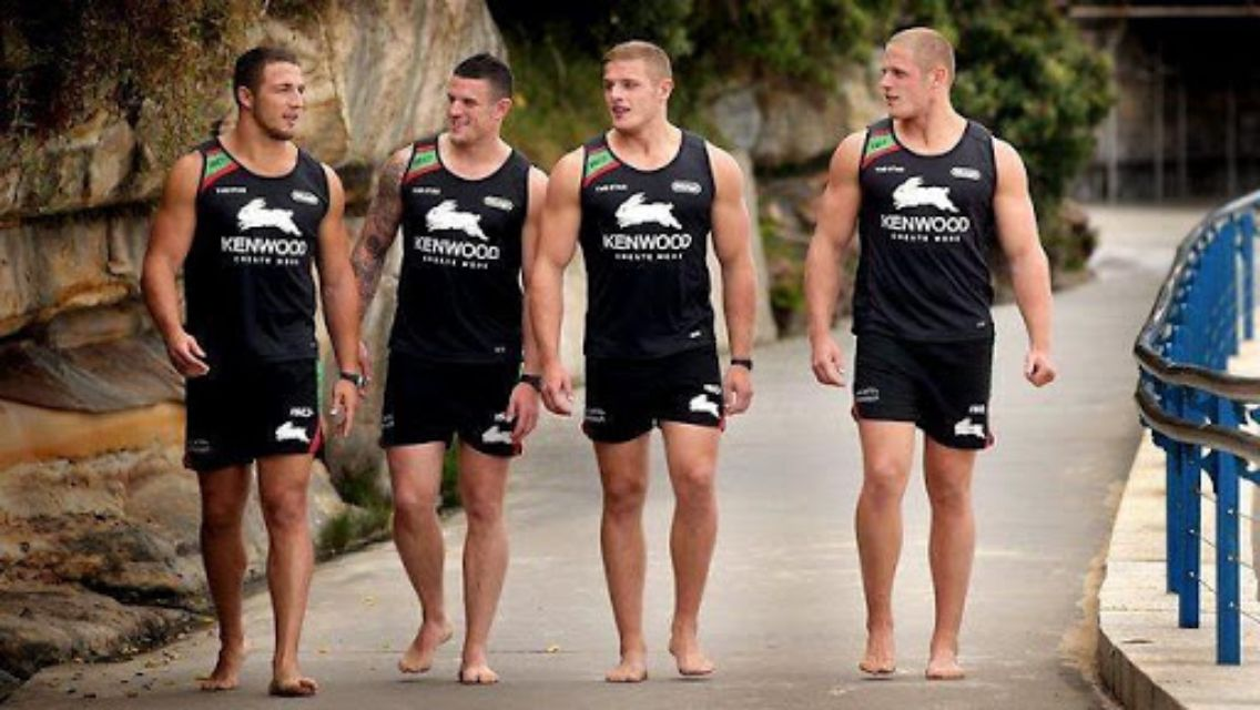 George Burgess (right), Australian rugby player