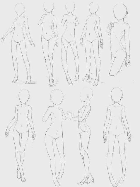 Female Anime Body Poses : female, anime, poses, Bissci, Reference, Drawing, Poses,, Anime, Drawings, Tutorials,, Poses