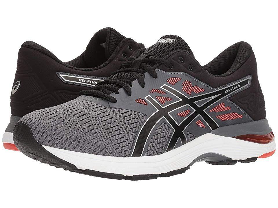 Asics Gel Flux 5 Men S Running Shoes Carbon Black Cherry Tomato Running Shoes For Men Asics Asics Running Shoes