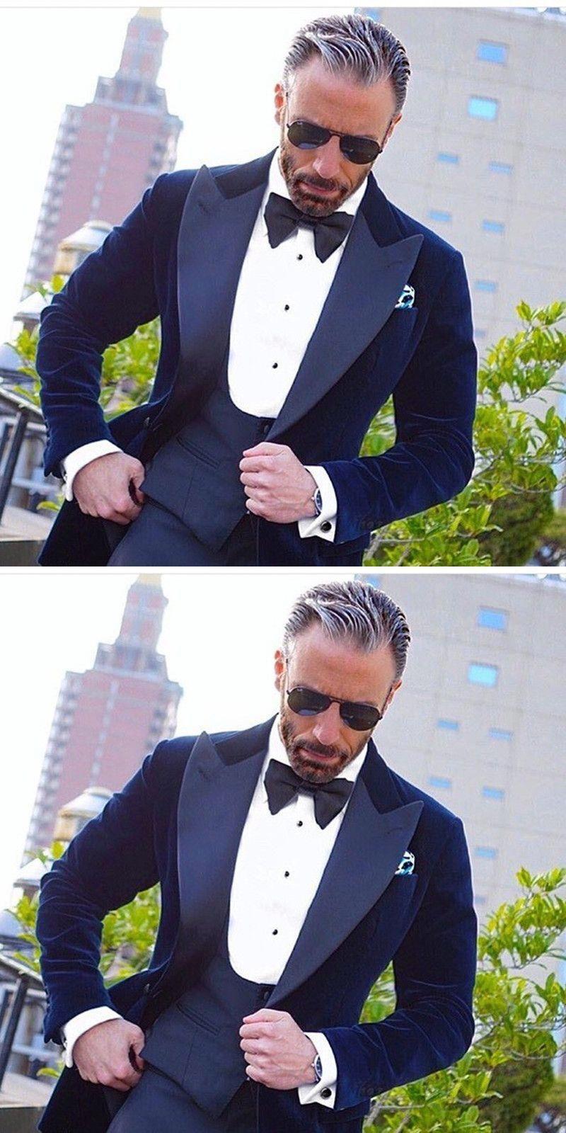 2017 new latest coat pant designs Royal Blue Velvet Groom men suit tuxedos  Jacket costume homme c9792bd29e6