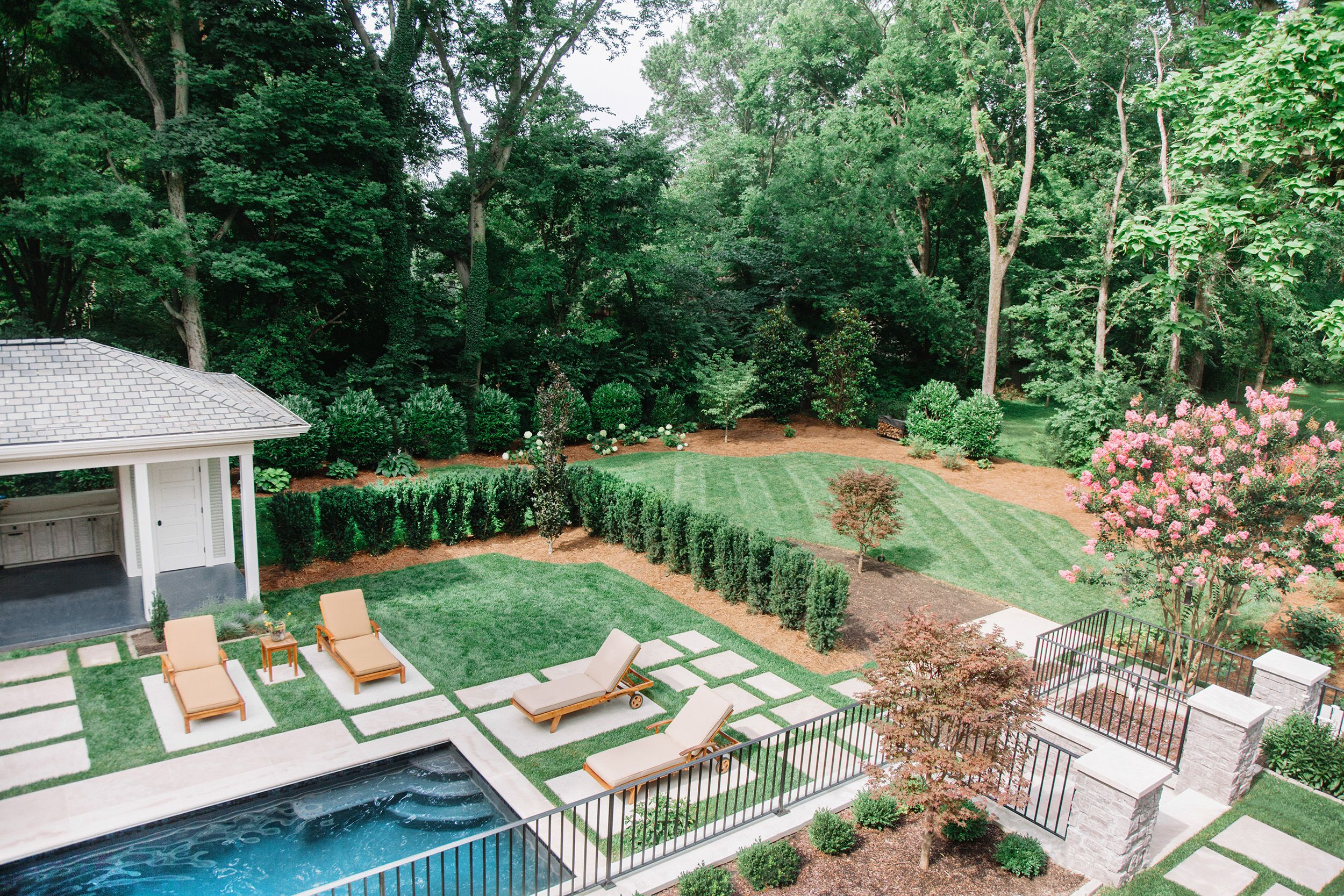 Landscape architecture by Anne Daigh. Landscaping with pavers ...