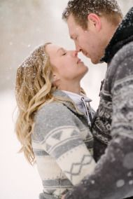 Snow Engagement Session - Style Me Pretty