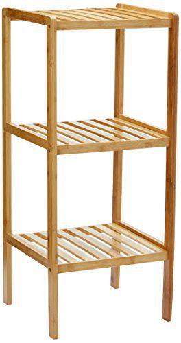Relaxdays Badregal Bambus mit 3 Ablagen HBT 79 x 33 x 33 cm - badezimmer bambus