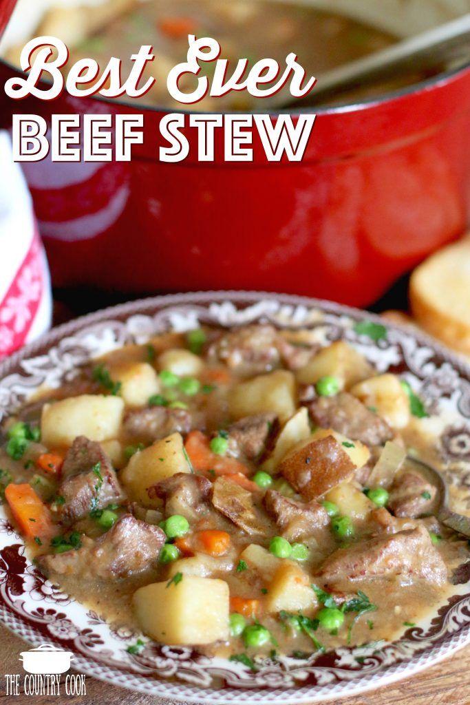 One Pot Best Ever Beef Stew Recipe Homemade Beef Stew Recipes Stew Recipes Beef Stew Recipe