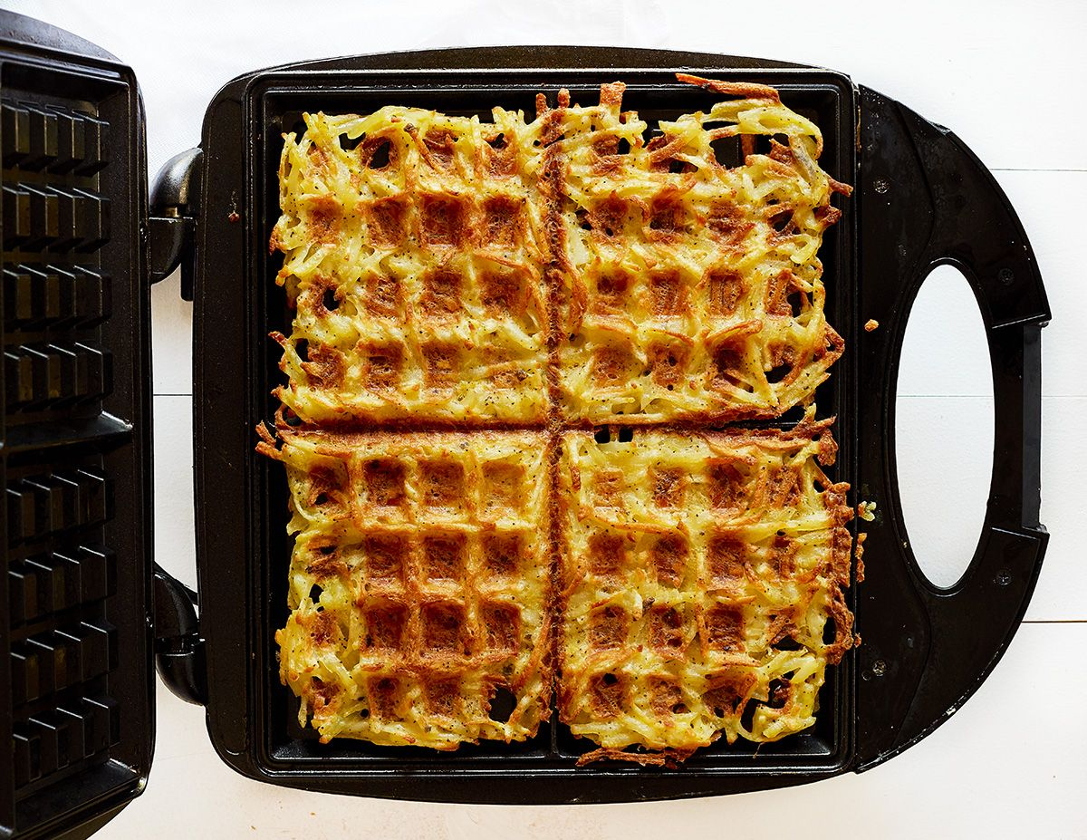 Crispy on the outside, soft on the inside, Hash Brown Waffles!