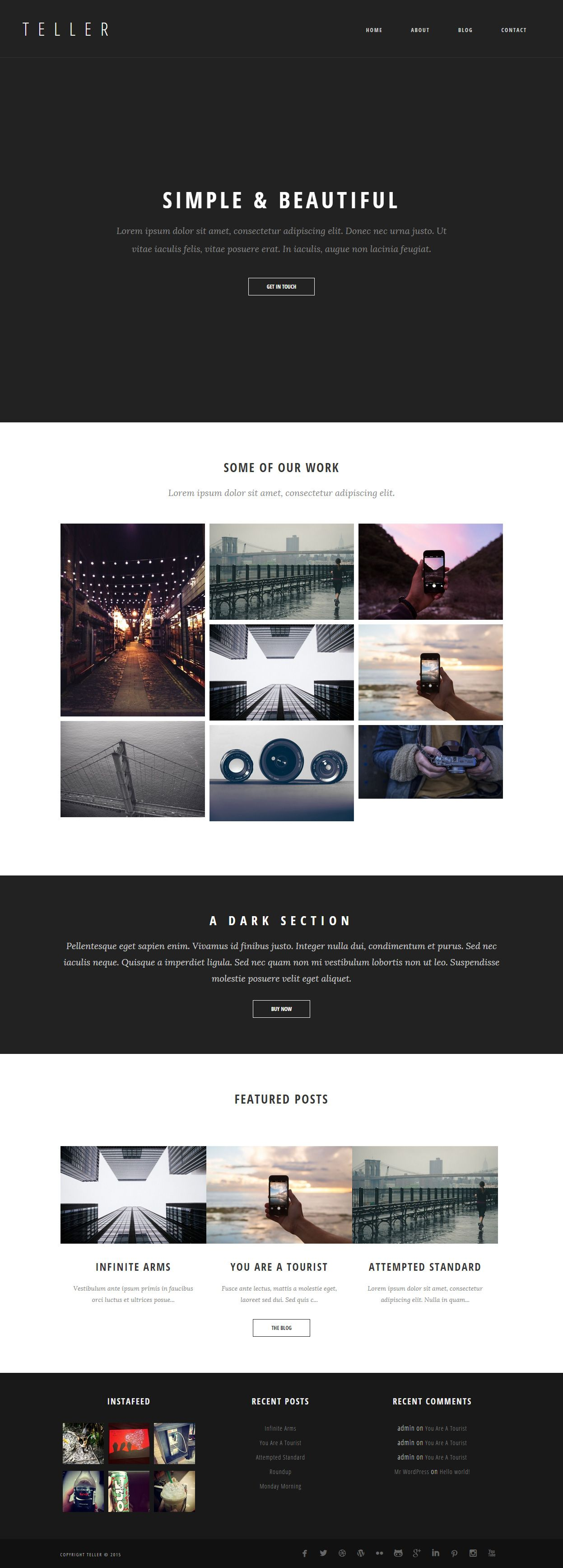 Teller - Premium Responsive Minimal WordPress Theme   Wordpress and ...