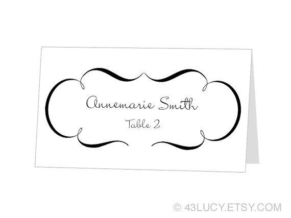 Avery Place Card Template -Anchor - INSTANT DOWNLOAD - Escort Card ...