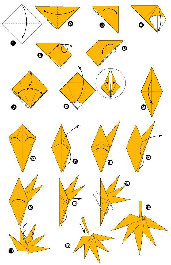 origami facile feuille