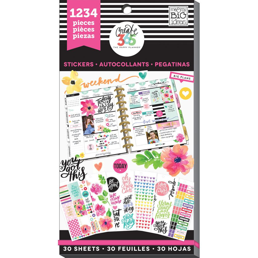 """MAMBI Create 365 /""""GOLD STAR QUOTES/""""Sticker Pack 605 Pcs New Release"""