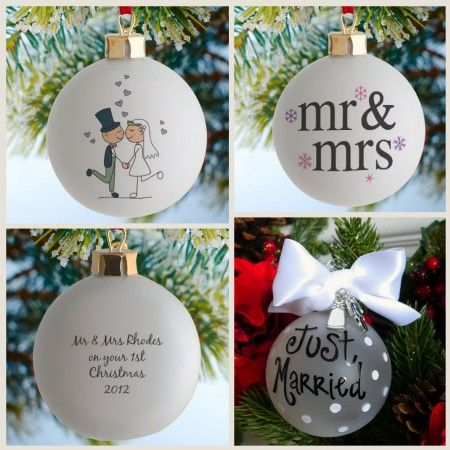 Wedding Favours Personalised Wedding Christmas Baubles So Cute
