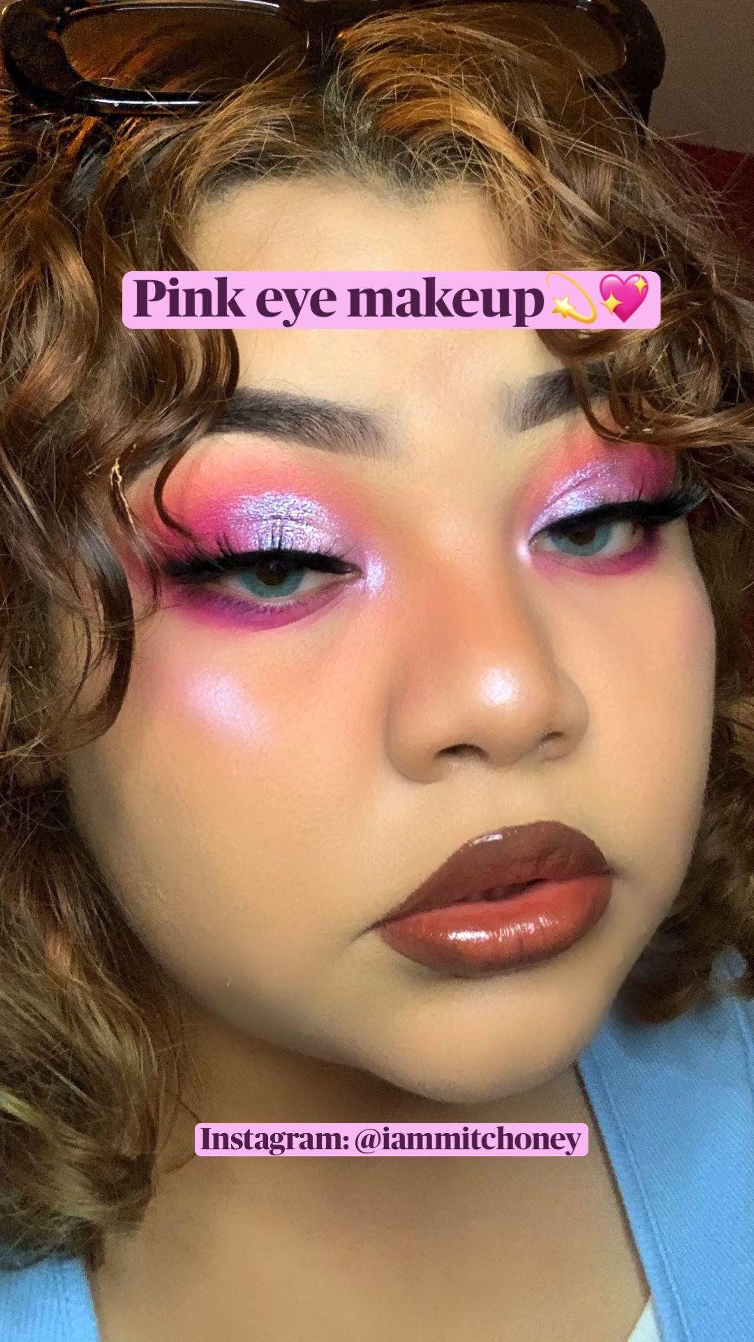 Pink eye makeup💫💖