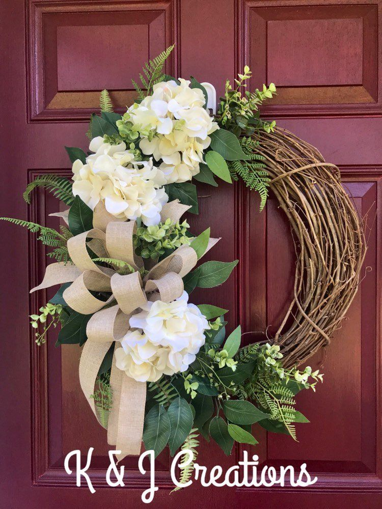 860 Wreaths Hydrangea S Ideas Wreaths Door Decorations Spring Wreath