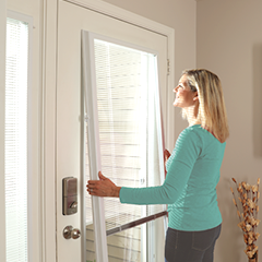 ODL Add On Enclosed Blinds For Entry Doors U0026 Patio Doors
