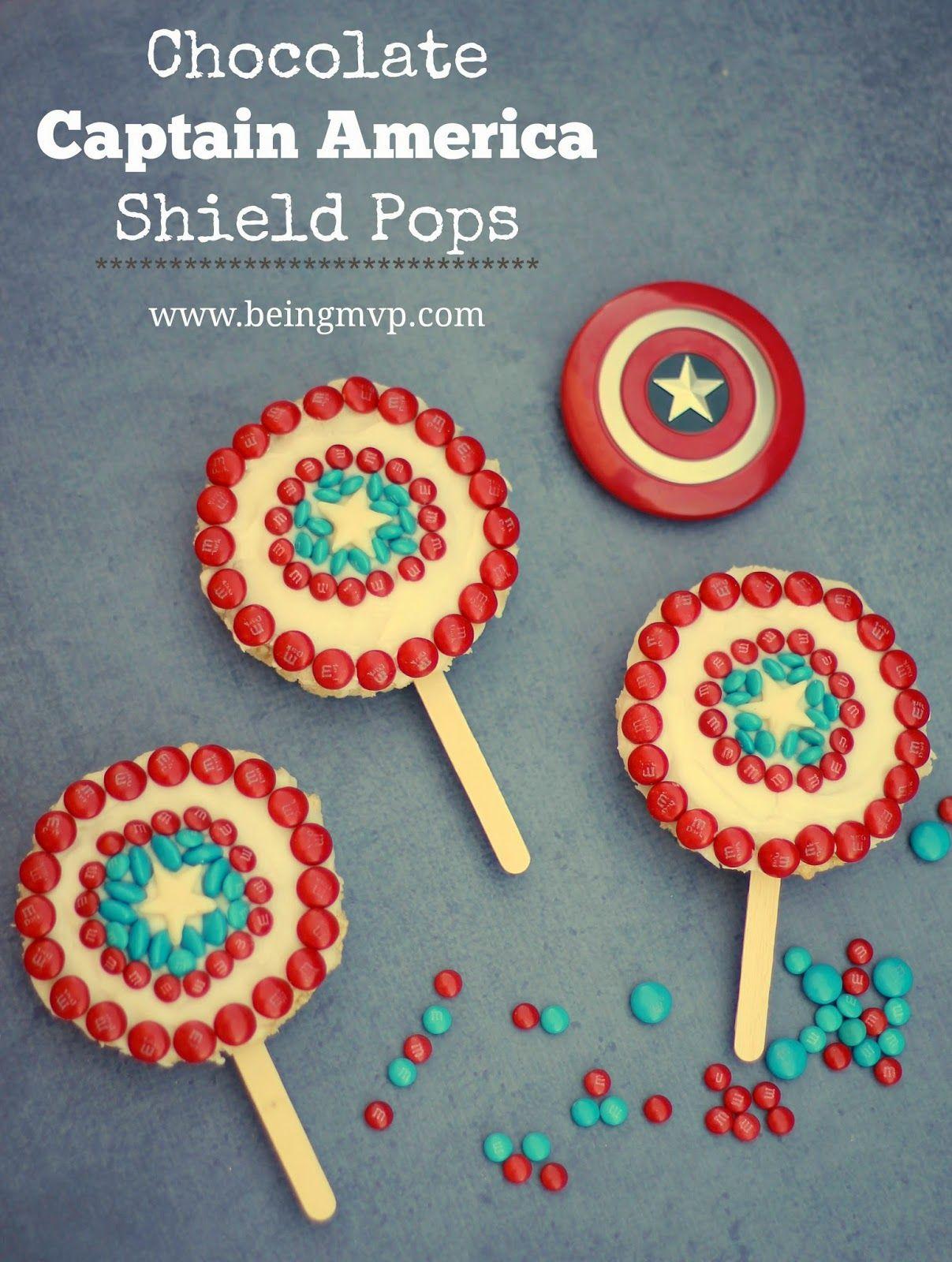 Chocolate Captain America Shield Pops {Recipe} + #coupon #HeroesEatMMs #CollectiveBias #shop