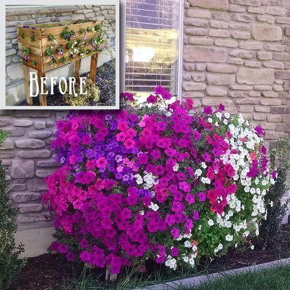 Pallet Planter Box For Cascading Flowers Window Box 400 x 300