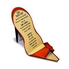 High Heel Paper Shoe Template Paper So Pretty Shoe Invitations Paper Shoes Shoe Template Diy Heels