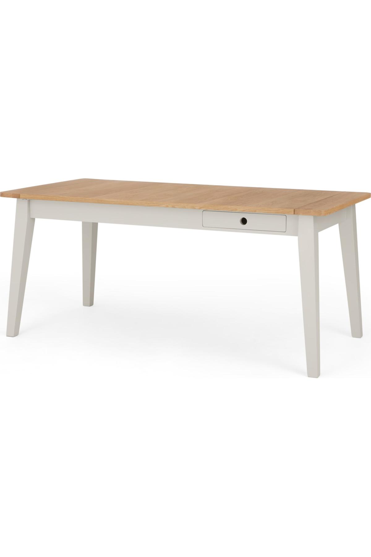 Ralph 6 8 Seat Extending Dining Table Mushroom Grey Light Wood