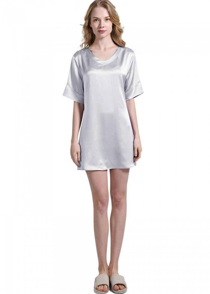 Plus Size Silk Nightgown Pajamas For Ladies - OOSilk  silk  sleepwear   nightwear   7a3192fa8