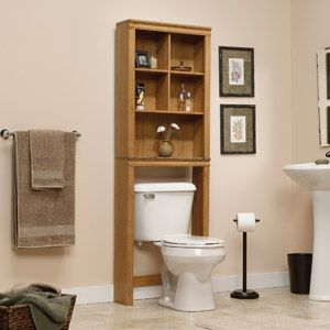 sundial space saver bathroom etagere highland oak space saving cabinet fits over toilet cubbyhole storage features two adjustable shelves faux granite