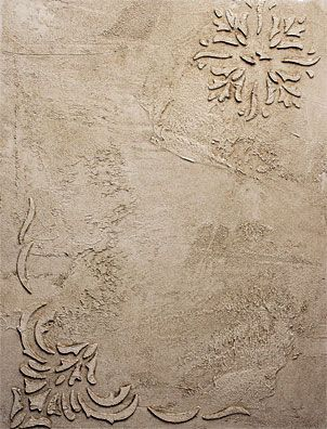 embossed design on plastered wall using the texture effects from the decorative painters products - Textured Wall Designs