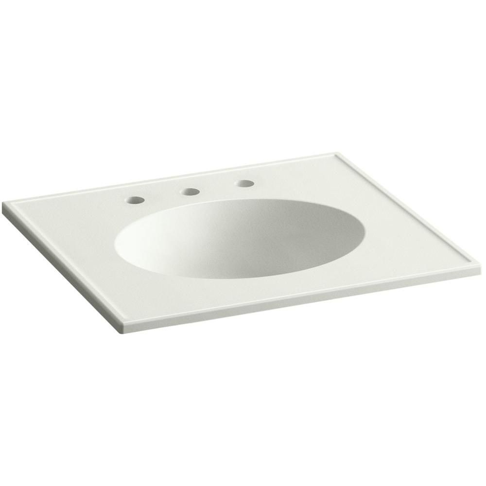 Ceramic Impressions 25 In Vitreous China Vanity Top With Basin In
