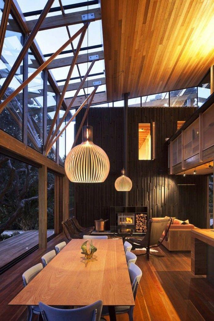 Luminaire leroy merlin lustre en bambou design moderne