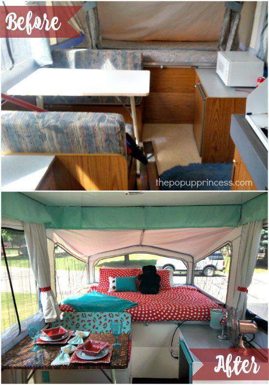 Kenya S Pop Up Camper Makeover Remodeled Campers Popup