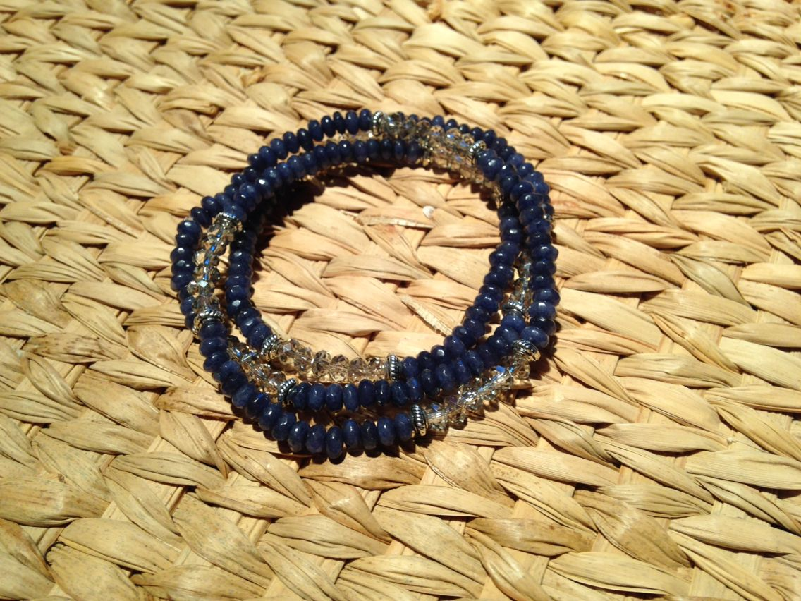 Sapphire wrap bracelet
