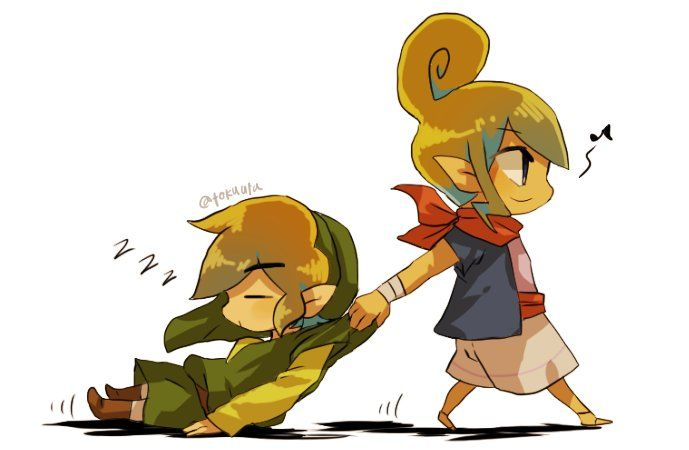 The Legend of Zelda Wind Waker | Tetra and Link | The Legend of ...